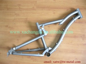 titanium full suspension bike frame 142X12mm dropout Ti mtb montain bike frame 44mm head tube