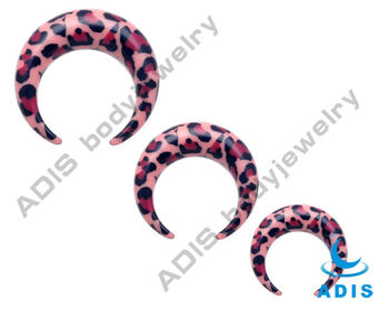 acrylic ear piercing crescent ,wholesale body jewelry factory