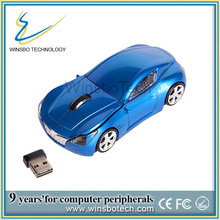 Chistmas promotional gift latest cordless computer car shaped mouse