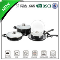 8pcs induction aluminum ceramic cinsa enamel nonstick cookware set