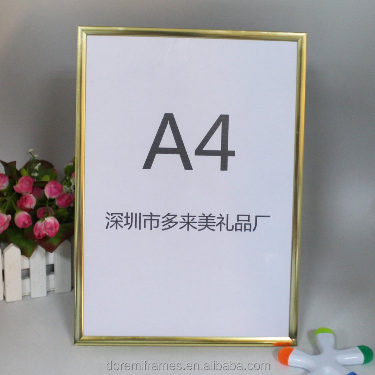 large size aluminum pvc ps photo frame for elevator display advertising