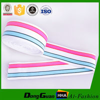 Striped Nylon Elastic Stretchy Ribbon With Factory Supply