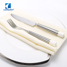 2018 stainless steel ceramic handle dinner set with knife and fork