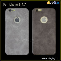 PinJun Wholesale Bulk Phone Cases Ultra-Thin Vintage Leather PU PC Back Case For Apple iPhone6 Cover