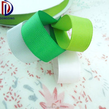 "Custom wholesale high quality solid color plain ribbon 1"" inch printed grosgrain ribbon for bow making"
