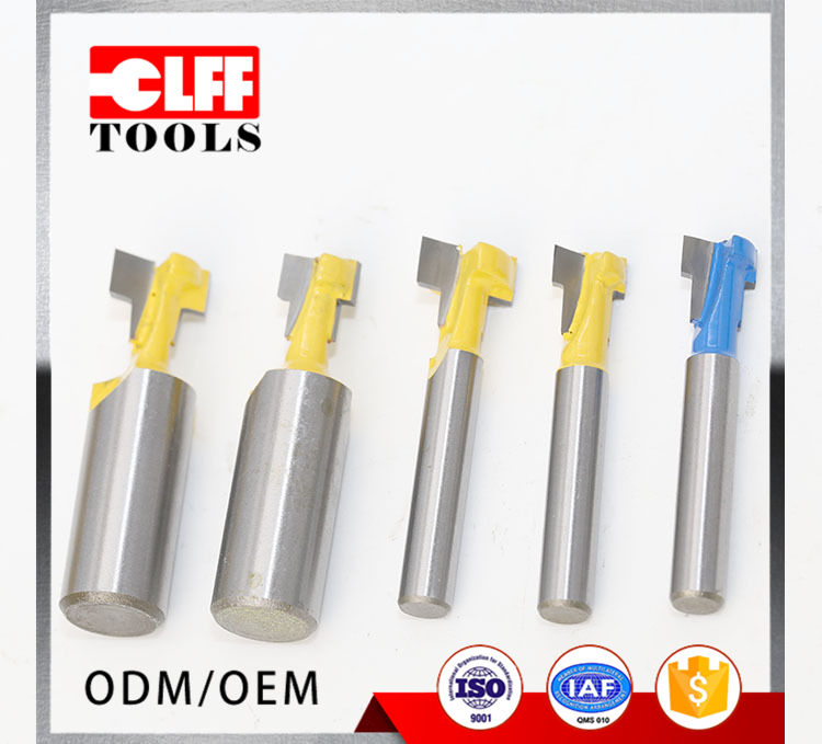 9.52mm 12.7mm Keyhole Knife Trimming Knives Yellow Woodworking Tools End Mill Router Bits