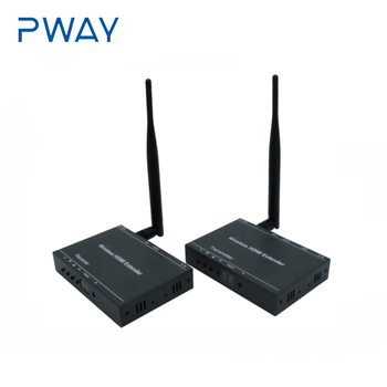 Pway 200M HDMI Wireless Extender1080P Audio Video Transmitter and Receiver with IR support  2.4G/5.8G  With channel Ddisplay
