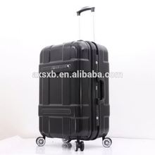 Factory sale different types luxury aluminum frame hard side trolley luggage