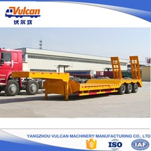 Factory 3 axle air bag suspension low bed truck semi trailer for sale