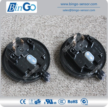 Low air gas differential pressure switch for ventilation and air-conditioning system