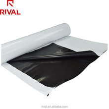 5.5 Mil Black/White Heavy Duty Poly Panda Film 10'' x 50' Waterproof Light-proof Reflective Poly Sheeting Silage Film