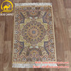 Henan Bosi 2x3ft Indian hand knotted fine quality bright vintage turkish silk rugs designs