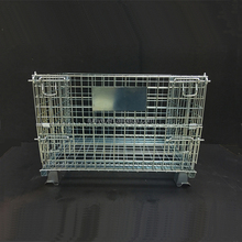 foldbale roll container structure roll tainer wire mesh container