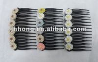 Resin colored flowers hair claws/fashion hair claw