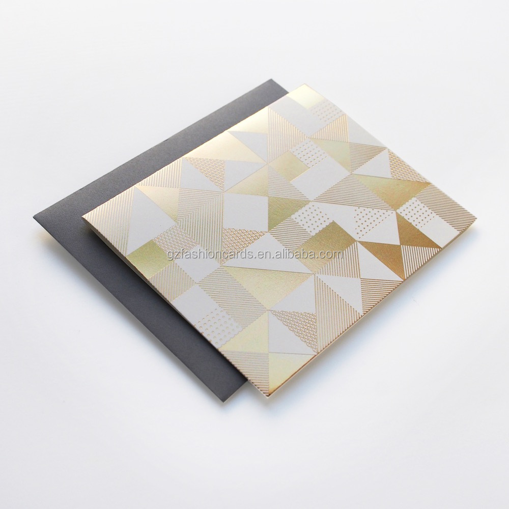Foiling Pattern Factory Price Plain Wholesale Greeting Cards
