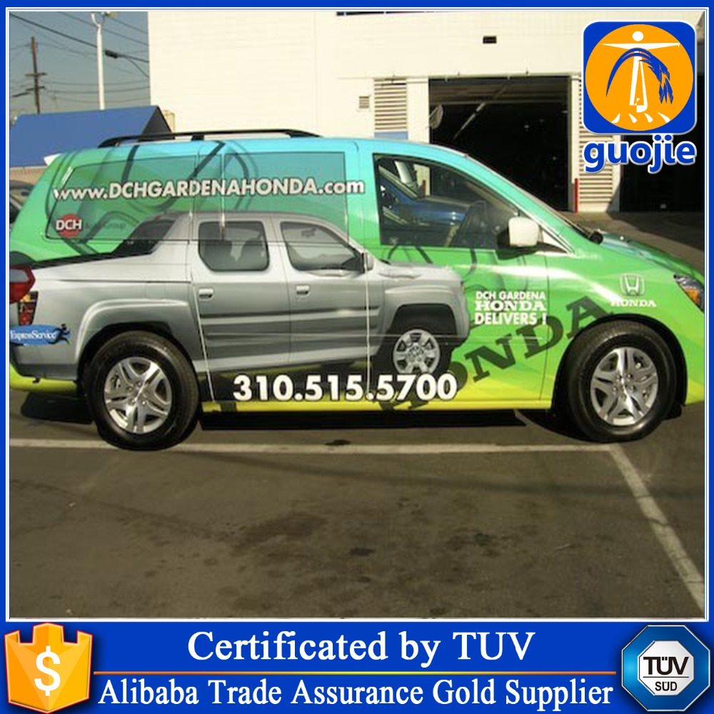 Digital printing vinyl car body sticker with custom design