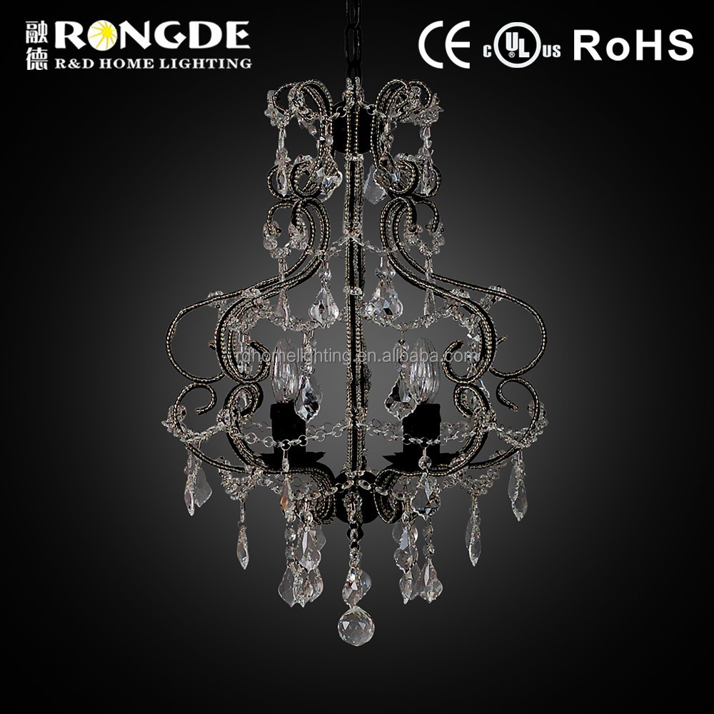 Living room design crystal chandelier modern