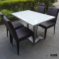 kingkonree seamless joint dining table and chair set