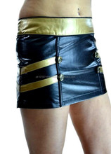 GOTHIC BLACK LEATHER PVC DOMINATRIX FETISH GOTHIC GOTH STEAMPUNK SKIRT FOR WOMENS