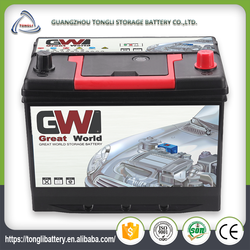 Lead storage auto battery 60AH car battery 12v