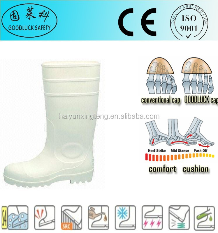 Construction Field White Top Popular PVC Fashion Rain Boot