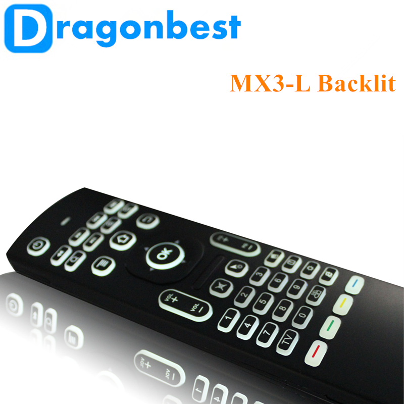2017 Good price of MX3-L backlit air mouse 2.4g mini wireless keyboard OEM Somatosensory remote control