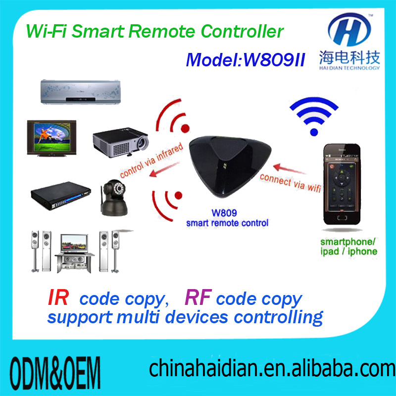 Smart WiFi to IR & RF Internet Remote Control via Mobile Phone, Wireless Universal Wifi Remote Control Smart Home Automation
