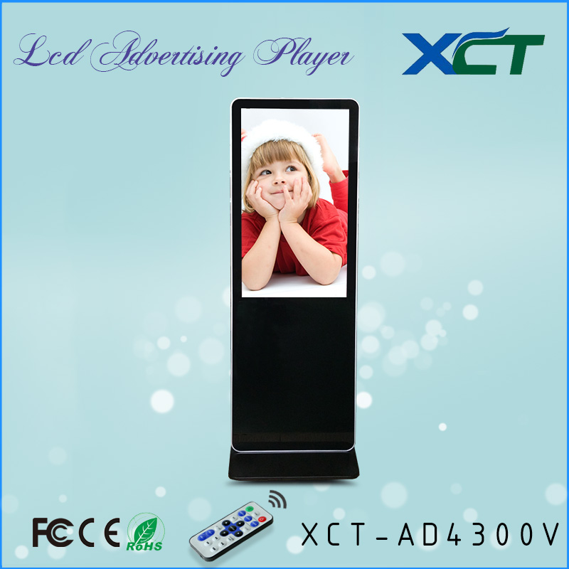 42 inch icd advertising screen of floor standing icd advertising tv android smart media player