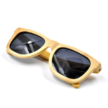 Hot sale handmade uv400 polarized bamboo sunglasses