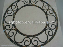 Fine Decorated Marble Mosaic Pattern Made of Crema Marfil