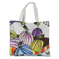 High quality reusable full printed cotton canvas tote bag
