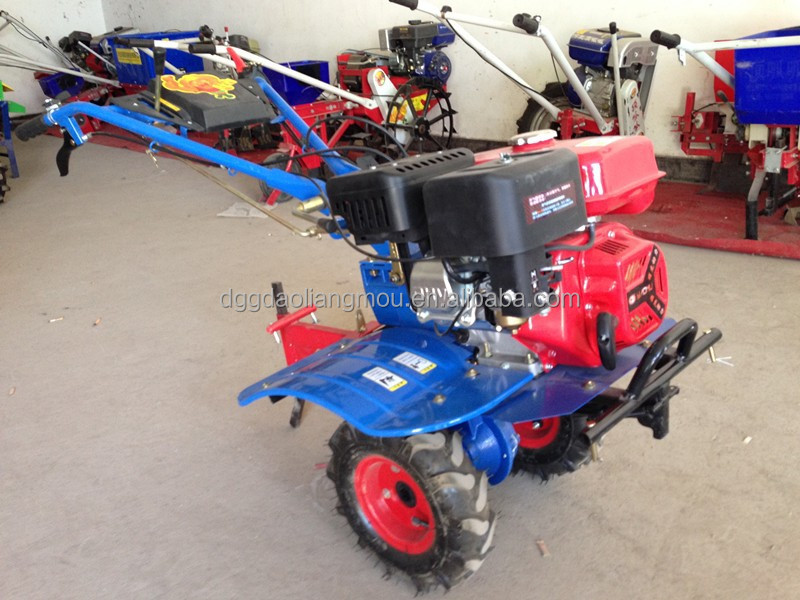 7.5HP hand mini power tiller rotavator with fertilizing hopper