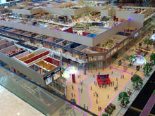 3D maquette , commercial building interior layout model maker