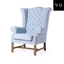 NEW ARRIVAL French Classic Antiqued accent chair/ french provincial wooden living room chair