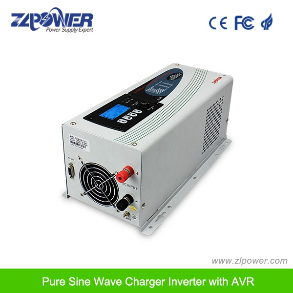 LCD solar inverter pure sine wave inverter charger 1KW-6KW 12/24/48VDC 110/220vac 50/60Hz
