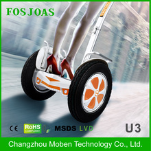 two wheel electric scooter with bluetooth Fosjoas U3 Airwheel S5 self balancing unicycle 680WH with training band