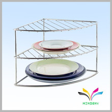 Wholesale sturdy stainless steel plated dish display rack
