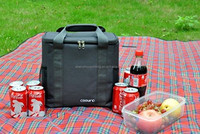 Popular high quality custom 11 X 10.7 X 5.5 gray 16 can thermal insulated large lunch 600d polyester cooler bag