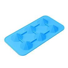 Protable Cup Silicone Ice Cube Tray Mold True Fabrication Iced Out Diamond Hape Ice Cream Cube Maker Bar Mould Kitchen Tool
