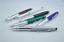 Metal LED Light Ballpoint Pen With Stylus Touch For Phone Tablets LED Light And Stylus Touch Pen