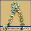 GREEN Color Acrylic Rhinestones Shoe Accessories