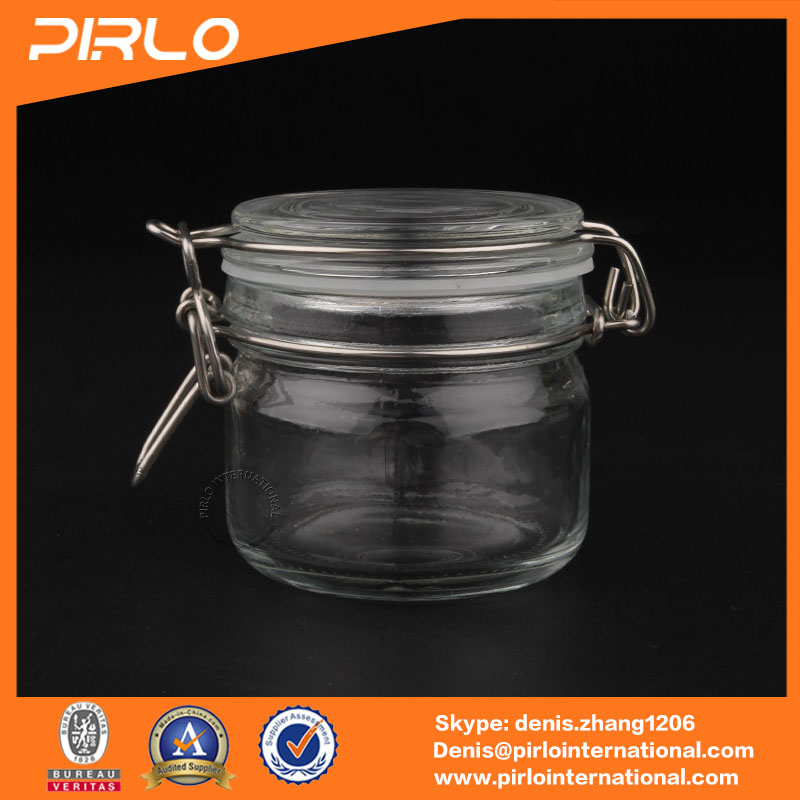 200g glass facial mask jars with cap small thick glass airtight facial cream cosmetic jars