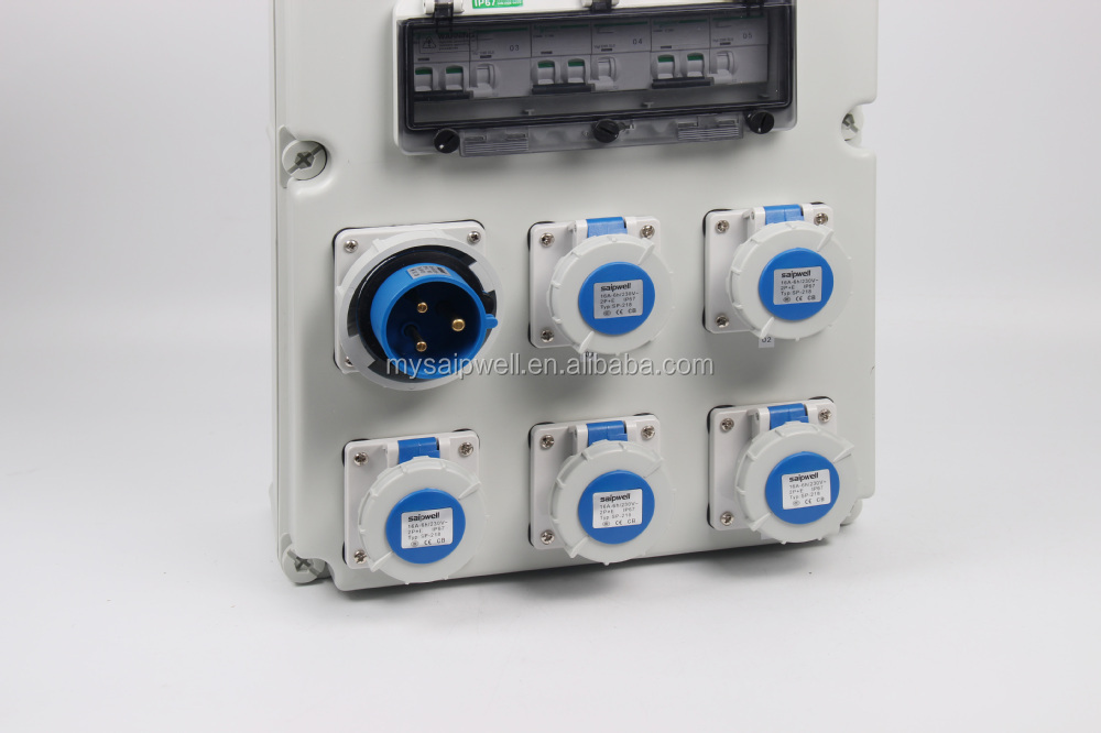 SAIP/SAIPWELL New Customized IP66 Waterproof Power Socket Box