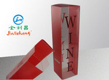 custom offest printing clear plastic single wine bottle gift box wholesale