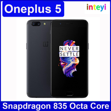 "Original OnePlus5 64GB 128GB Smartphone Snapdragon 835 Octa core LTE 4 g 5.5 ""20.0MP 16.0MP Dual Fingerprint Camera"