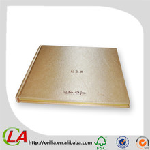 Thick Grey Board Hard Cover Coated Pearl Paper Luxury Book Printing