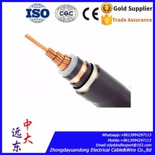 underground transmission line Copper XLPE insulated poewr cable 132kV 800mm2 high voltage power cable