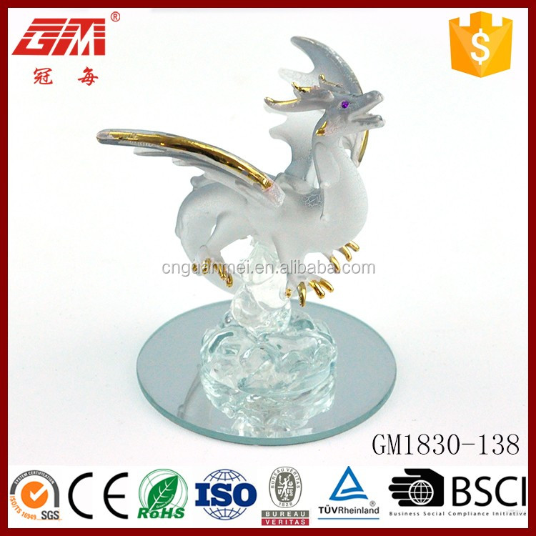 European style hot sale glass western dragon ornaments