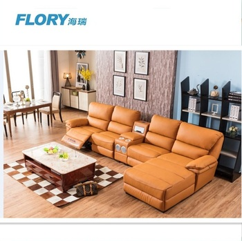 Power recliner sectional with speaker air purifier