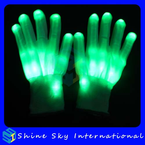 Led light halloween party new gadgets 12 colors led glove,cotton led gloves party one size fits most led halloween party gloves